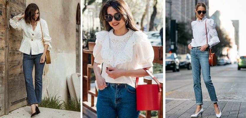 Blusas blancas de estilo romántico