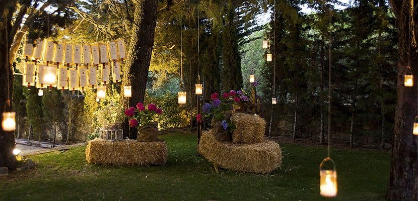 Iluminación en bodas de tarde