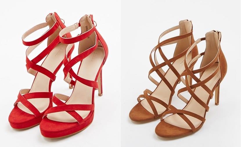 Sandalias de tacón colores