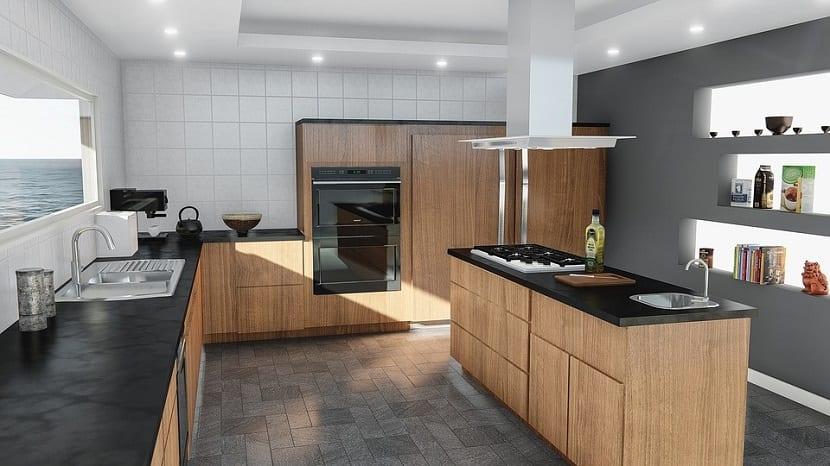 Cocinas con isla moderna