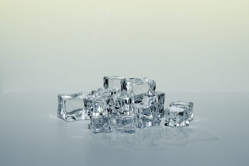 Cubitos de hielo para retirar chicle