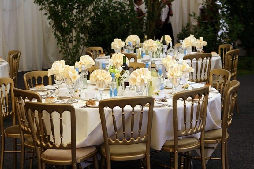 Decoración para boda económica