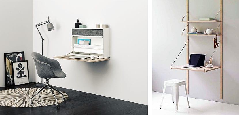 escritorios plegables para ahorrar espacio