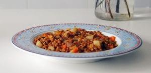 Lentejas con patatas y verduras