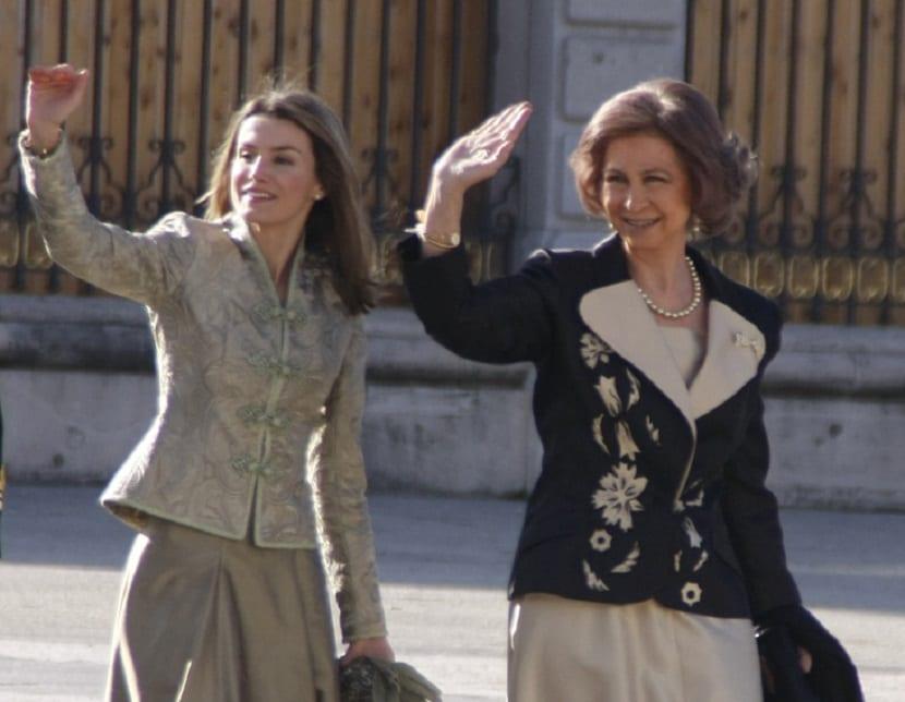 Letizia y Doña Sofía