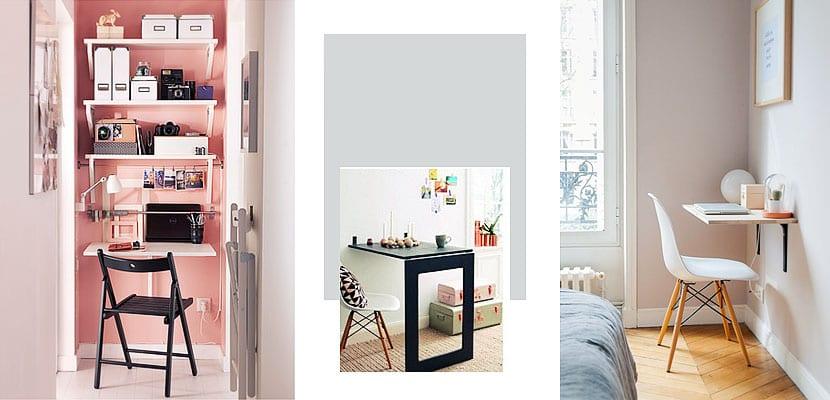 Escritorios plegables para ahorrar espacio - Mesas de estudio para espacios pequenos ...
