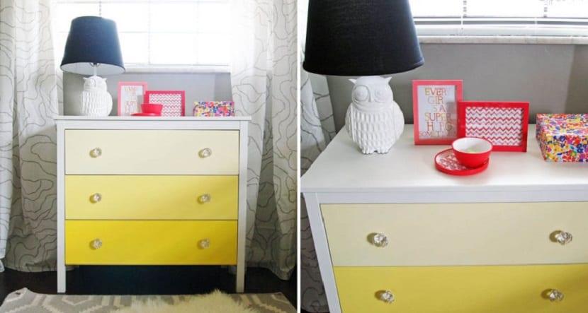 Mueble efecto degradado