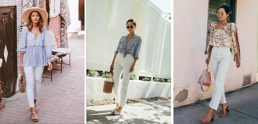 Looks con pantalones blancos