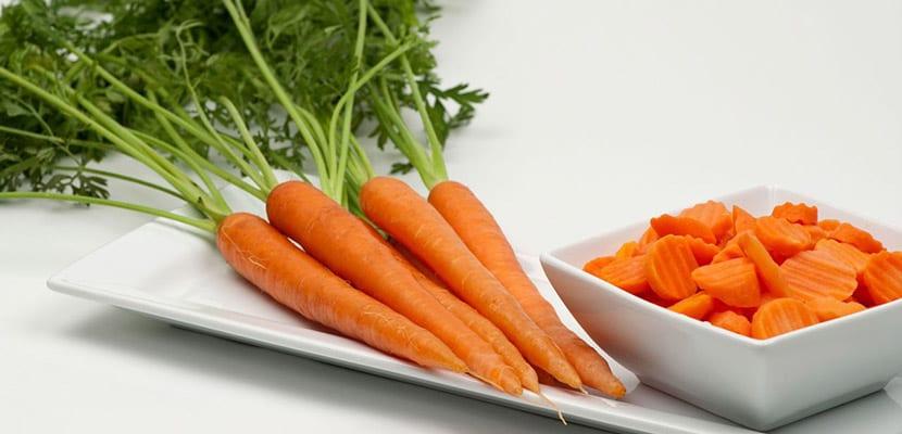 Zanahoria para el bronceado