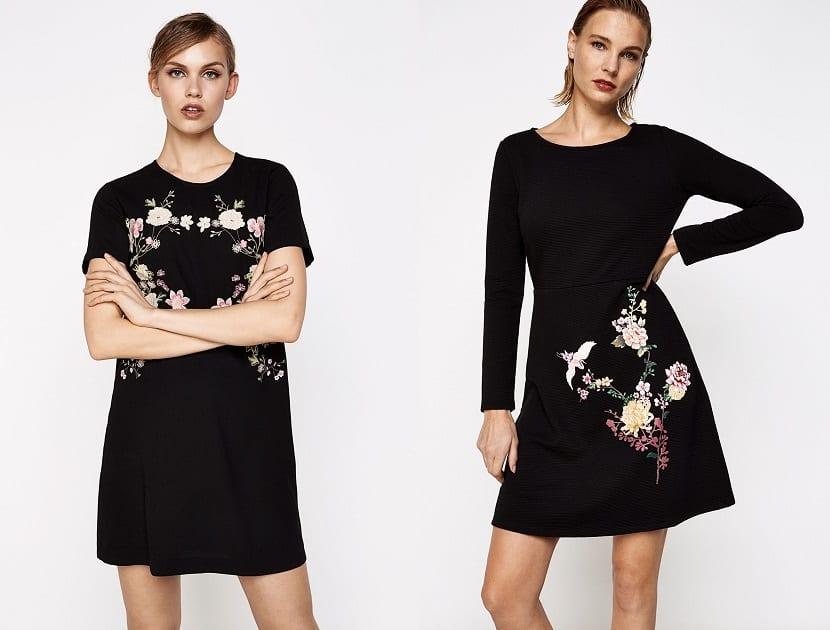 Vestidos cortos en color negro