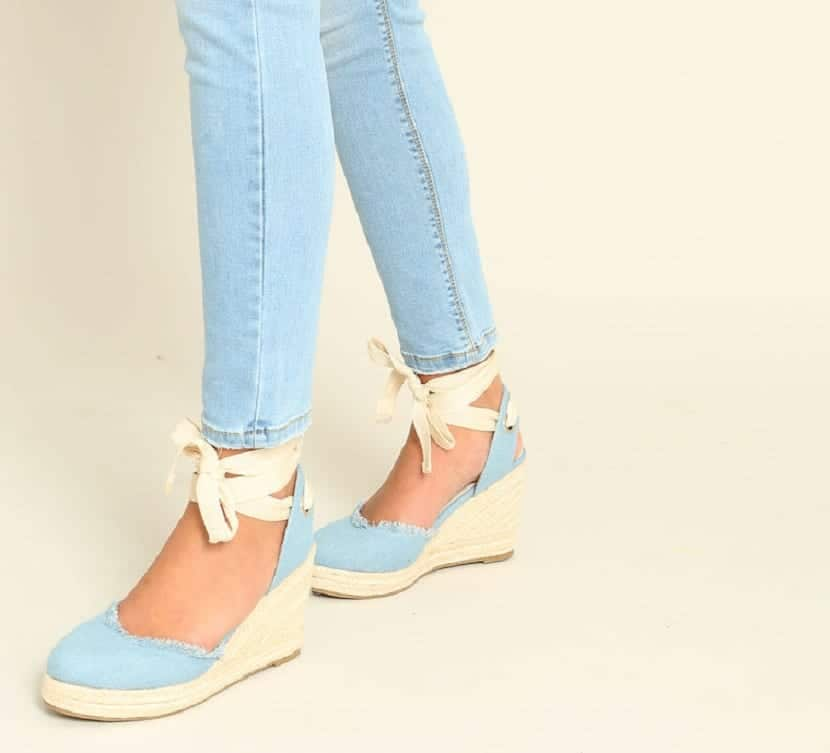 zapatillas de cuña