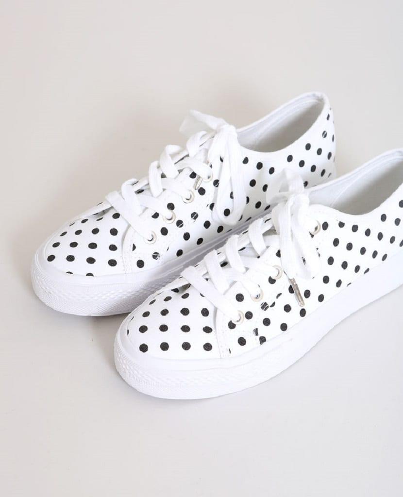zapatillas de lunares