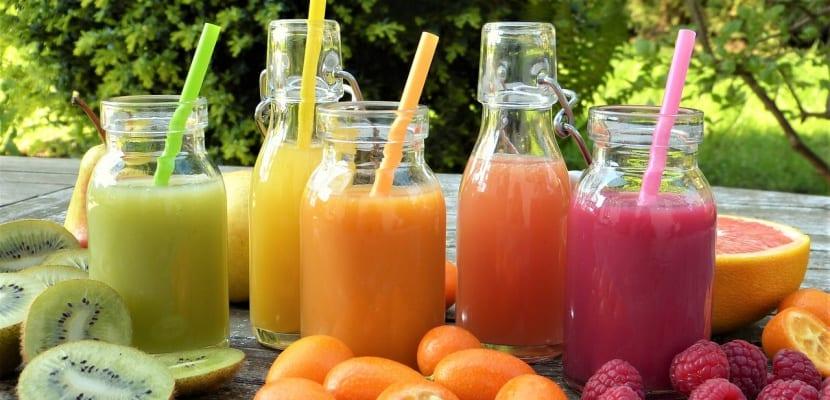 frutas en zumo naturales