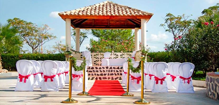 Pérgola para una boda