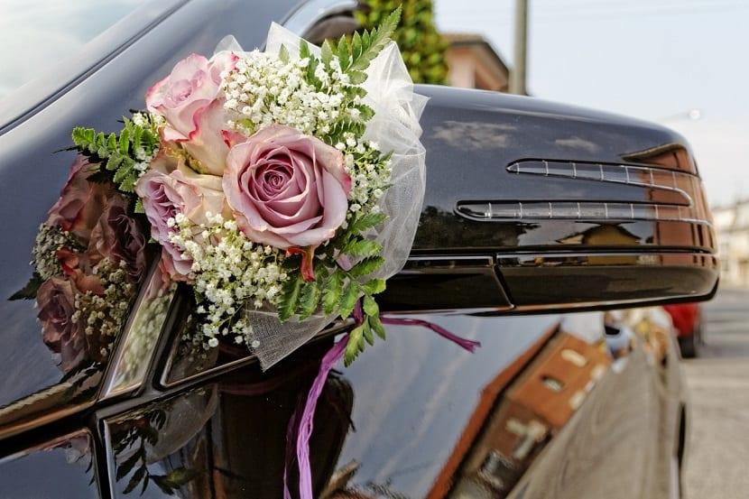 Coches decorados para bodas