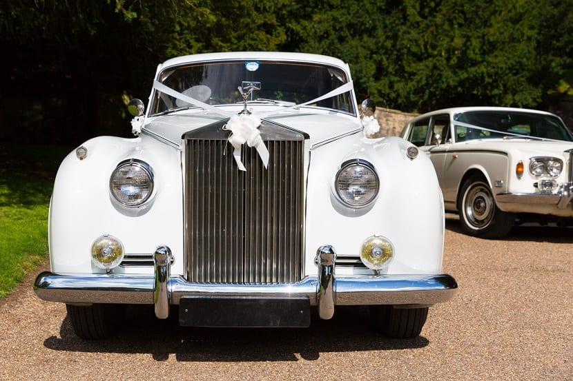Decoración del coche de boda estilo vintage