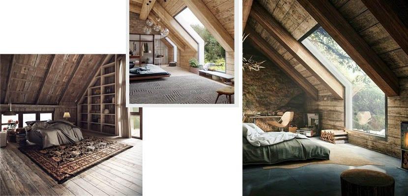 Cabañas de madera: dormitorios