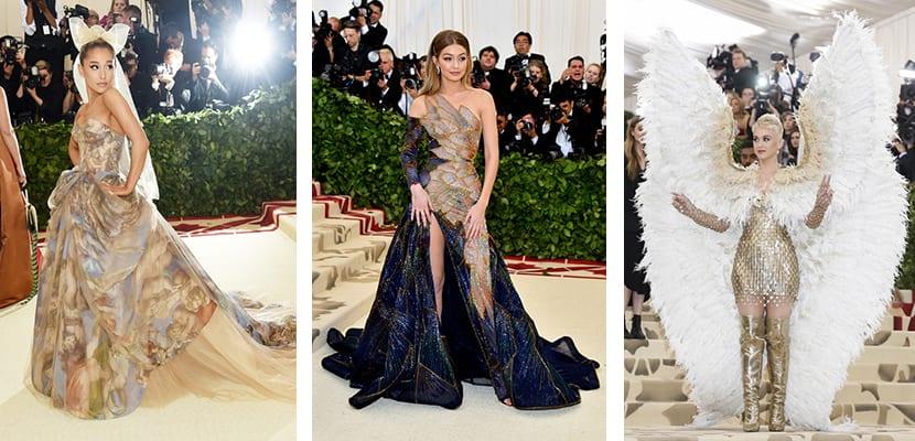 Vestidos originales en la Gala MEt