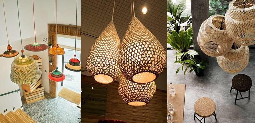 Decorar el hogar con lámparas de mimbre
