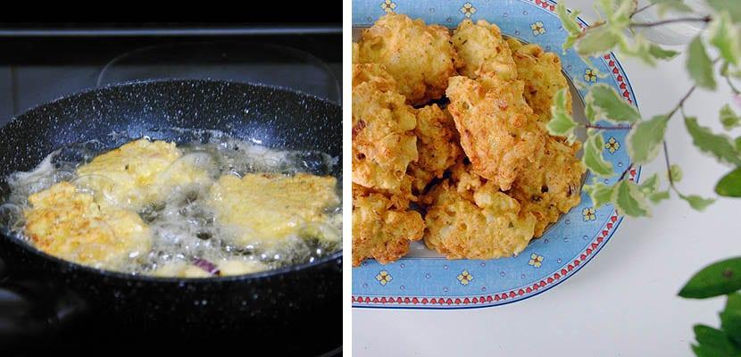 Tortitas de coliflor especiadas