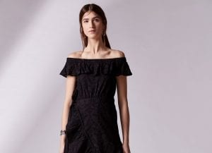 Vestido negro Adolfo Domínguez