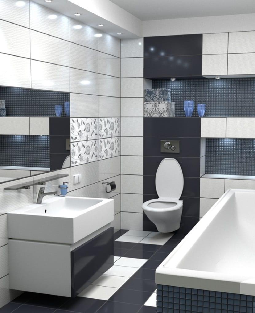 Combinar azulejos del baño