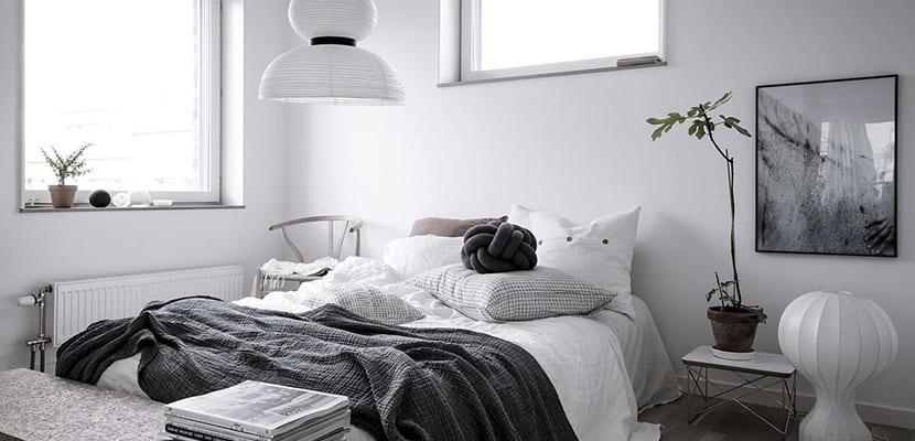 Dormitorio en estilo nórdico