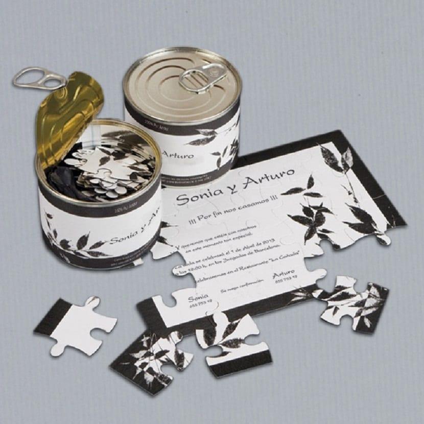 Invitación en forma de puzzle