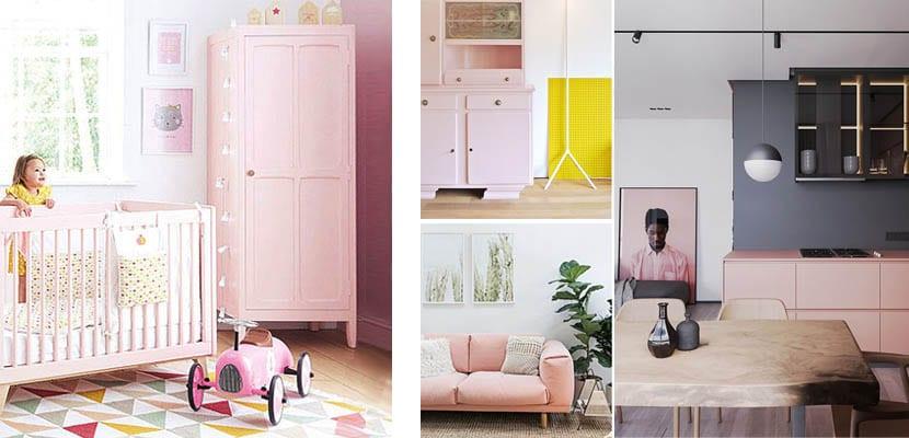 Muebles rosa palo