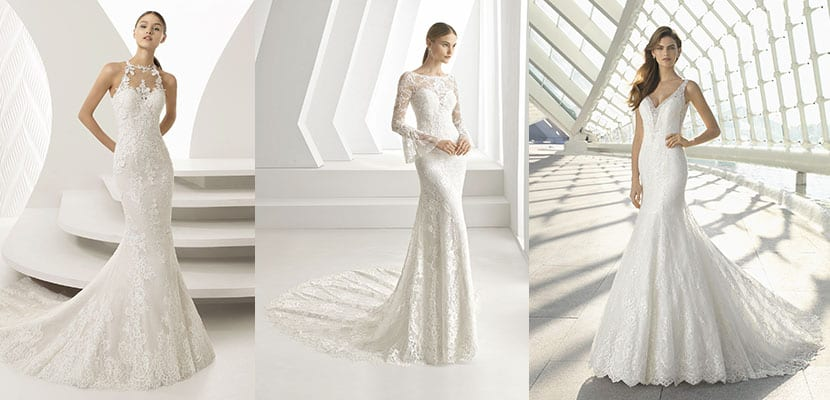 Vestidos de novia con siluetas marcadas