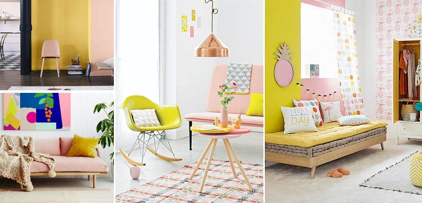 Decoración en rosa y amarillo