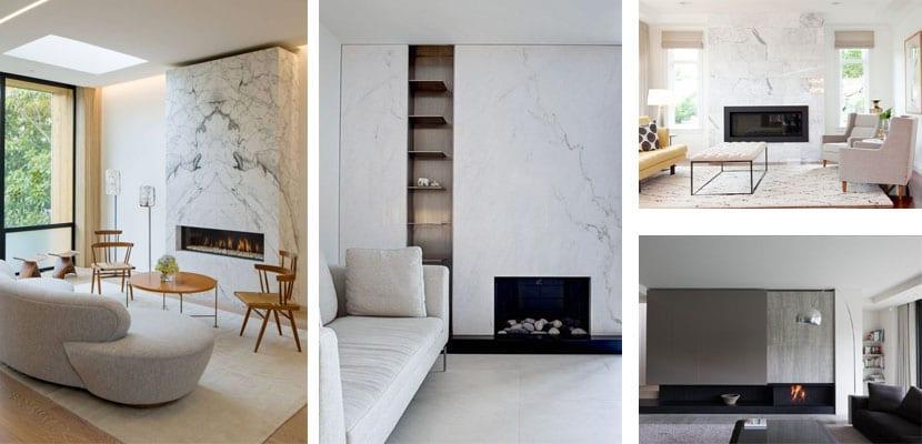 Salones con chimenea de mármol