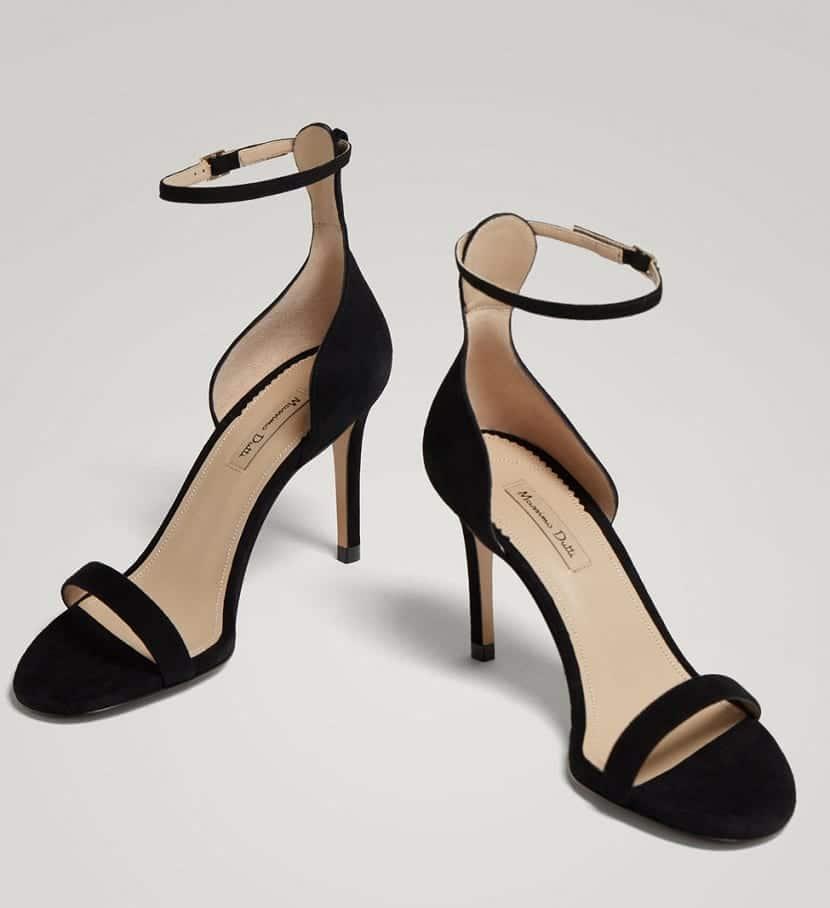 Sandalias de tacón fino