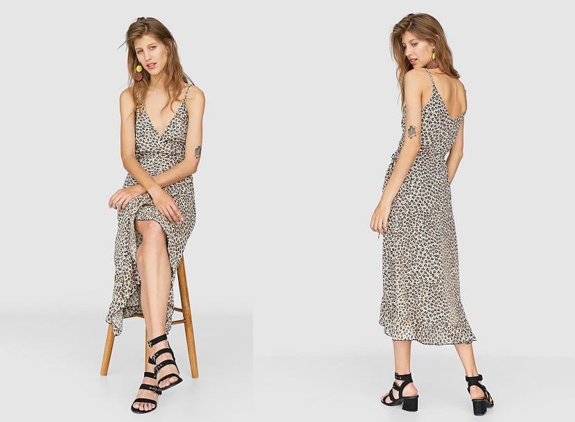 Vestido estampado leopardo