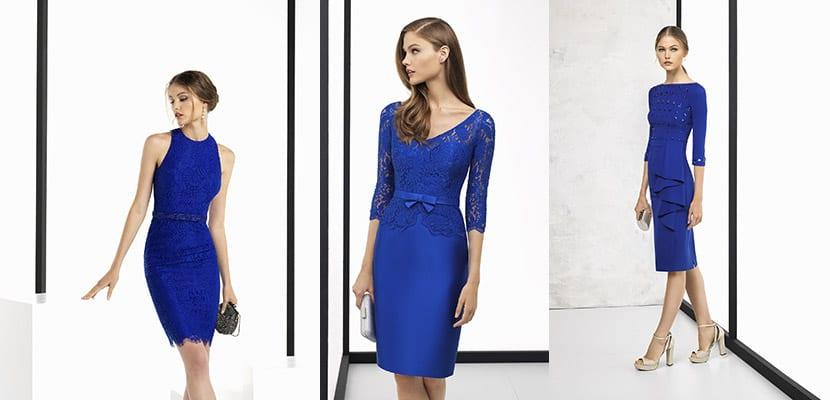 Vestidos azules Rosa Clará