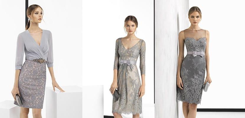 Vestidos grises Rosa Clará