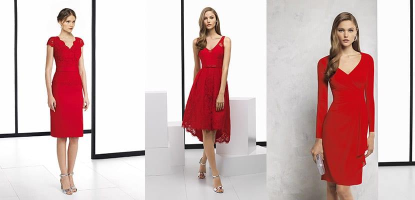 Vestidos rojos Rosa Clará