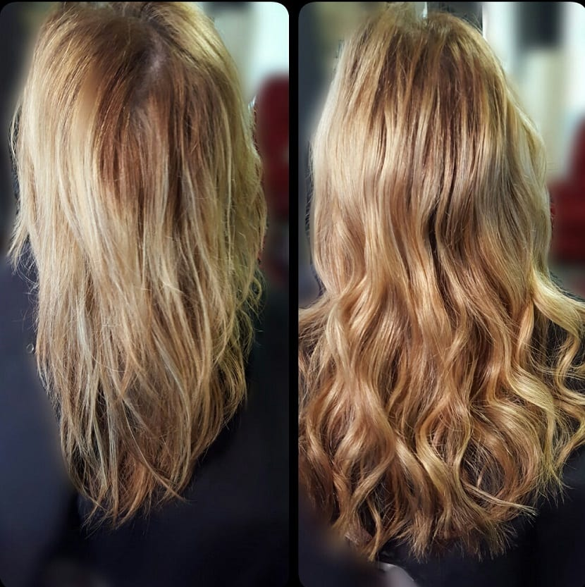 Volumen en el cabello con extensiones