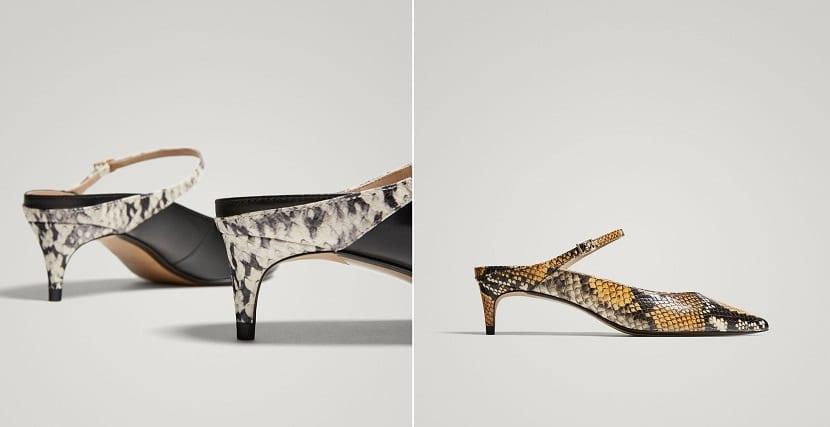 Zapatos de tacón bajo animal print