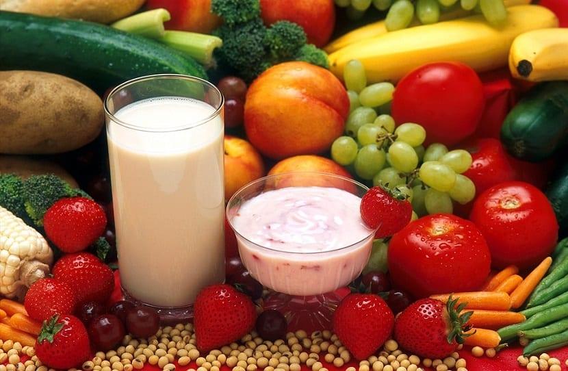 Alimentación saludable para piel del rostro