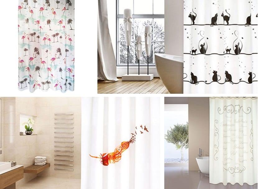 Cortinas de ducha imprescibles para un ba o con mucho estilo for Leroy cortinas bano