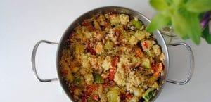 Cuscús con calabacín y otras verduras