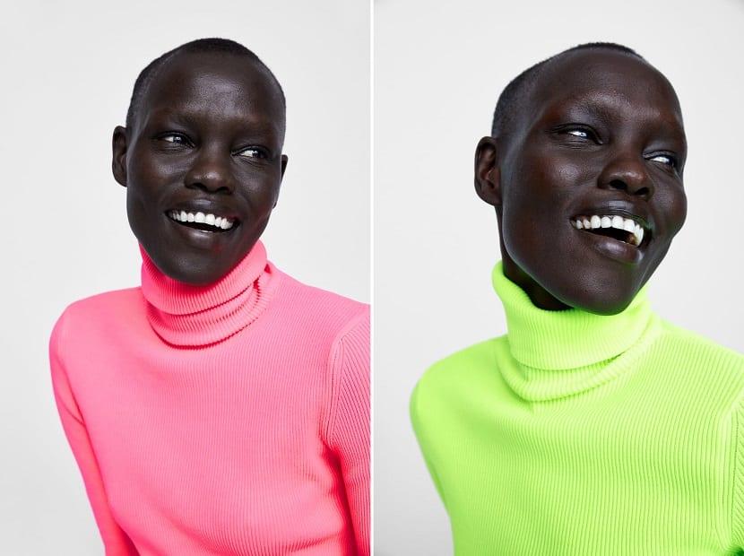 Jerséis en color neón de Zara
