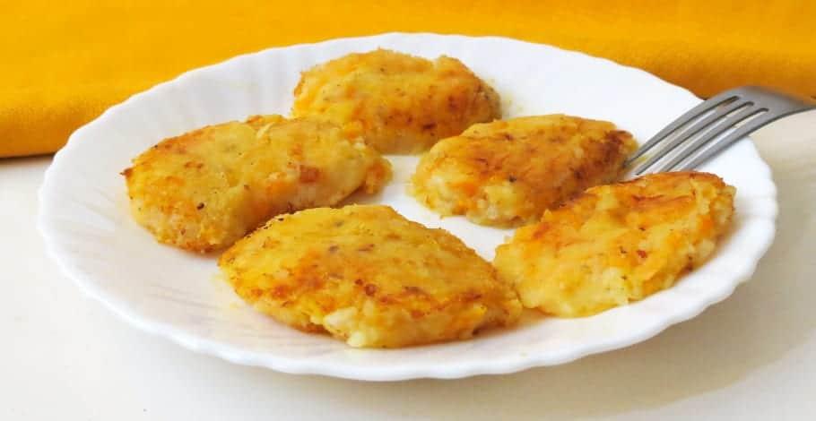 Medallones de patata con zanahoria y queso
