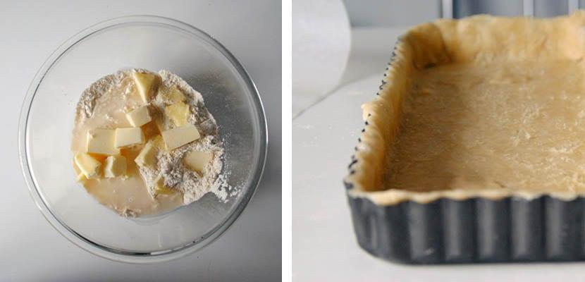 Pastel de puerro y calabacin