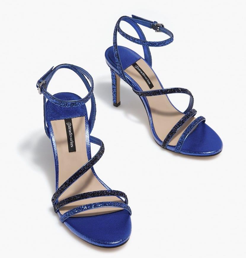 Zapatos de tacón glitter