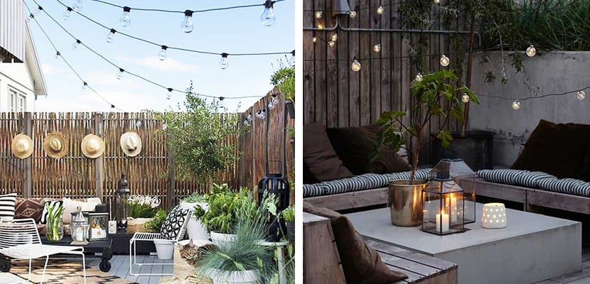 Iluminacion para terrazas