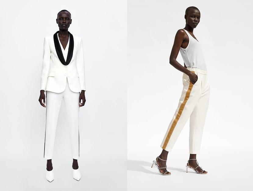 Traje pantalón en color blanco