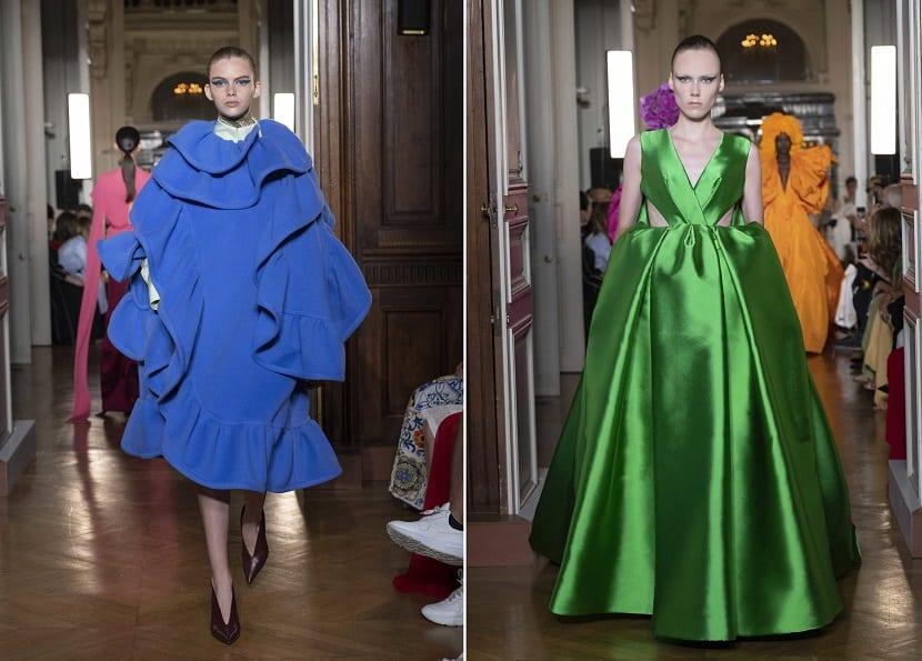 Vestidos en color de Valentino