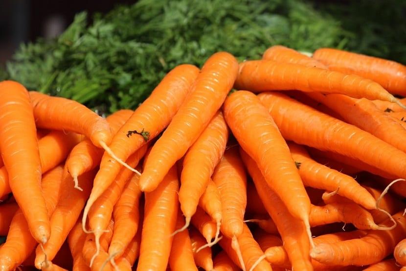 Zanahorias para activar melanina